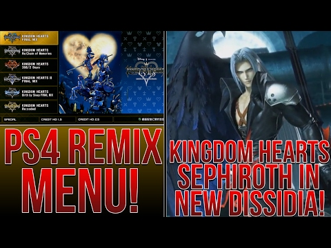 Kingdom Hearts 1.5+2.5 Menu Revealed, KH Sephiroth in New Dissidia, KH Domez Figures!