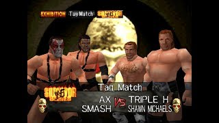WWF Wrestlemania 2000 Rom Hack Matches - Demolition vs DX