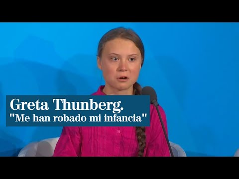 "Greta Thunberg al borde de las lágrimas: ""Me han robado mi infancia. ¿Cómo se atreven?"""