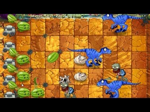 เกมส์พืชปะทะซอมบี้ 2: Jurassic Marsh - Day 3