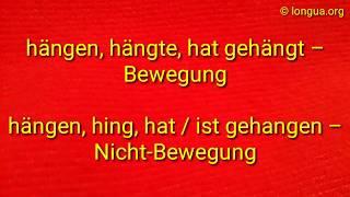 A1, A2, B1, B2 Verben im Deutschen: setzen, sitzen, stellen, stehen, hängen, schaffen - unregelmäßig