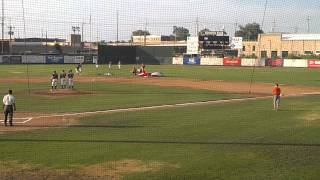Baseball player drop kicked by skydiver
