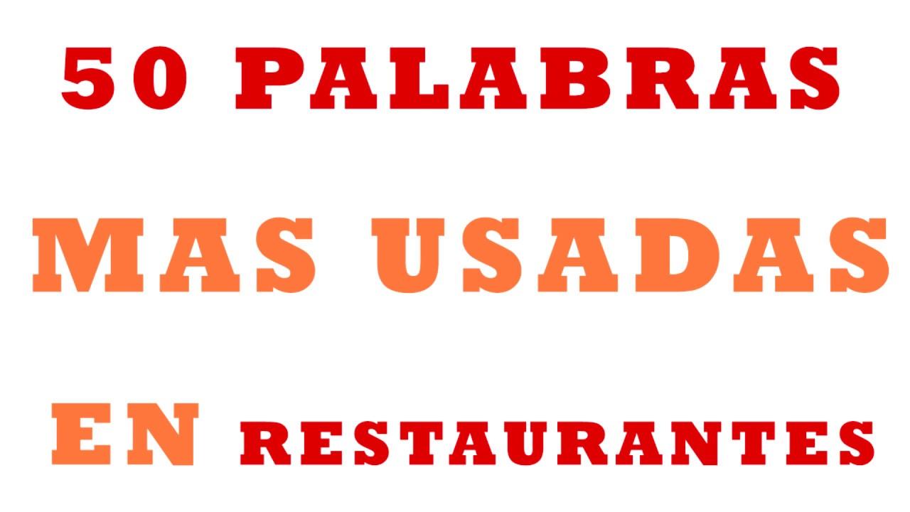 50 Palabrasfrases Muy Usadas En Inglés Restaurantes