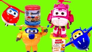 Super Wings Transformers Transforming Toys! Donnie, Dizzy, Jerome & Jett with  !