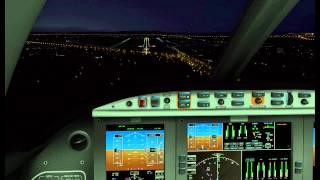 Aproximación instrumental y aterrizaje ILS LEVC Valencia. XPLANE avión Elcipse 550.