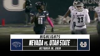 Nevada vs. Utah State Football Highlights (2019) | Stadium