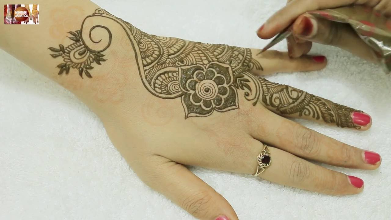 Beautiful Henna Tattoo Designs For Your Wrist: Beautiful Easy Henna Mehandi Tattoo Designs For Hands