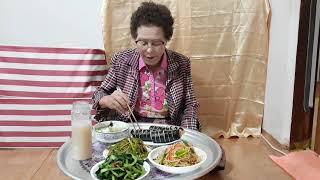 김밥열무김치콩나물무침미나리무침계란탕쥬스