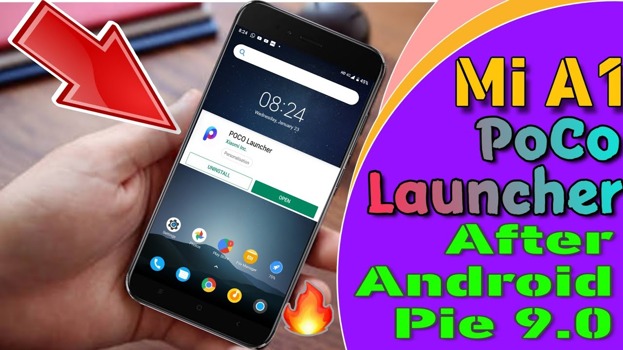MI A1, HOW TO USE POCO LAUNCHER, AFTER ANDROID PIE 9 0 - 2019