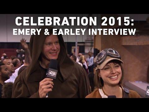 Julie Ann Emery and Kevin Earley  with StarWars.com  Star Wars Celebration Anaheim