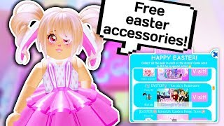 EASTER EGG HUNT GUIDE + NEW FREE EASTER ACCESSORIES // Roblox Royale High School