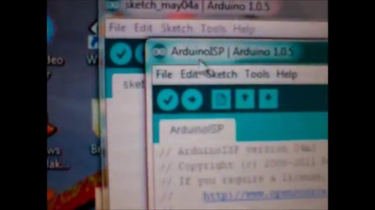 How to burn bootloader atmega using arduino and kit