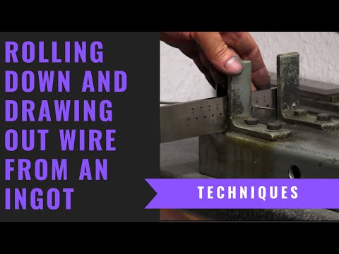 Rolling Down and Drawing Silver Wire - Turn Square Wire Into Round Wire