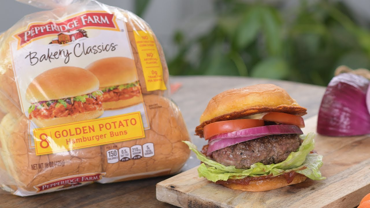 How to Make the Perfect Burger Every Time with @Pepperidge Farm!! So Yummy