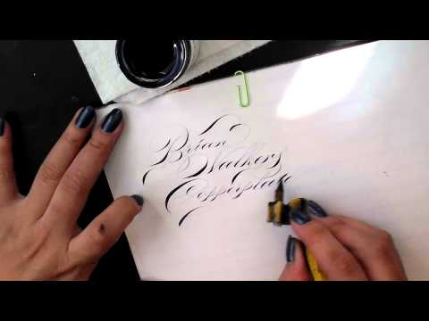 6. Pointed Pen Calligraphy 101: Iron Gall Ink Comparison