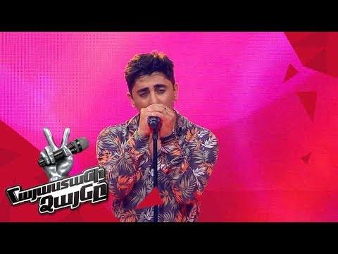 David Ray sings 'Sub Pielea Mea' - Blind Auditions - The Voice of Armenia - Season 4