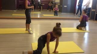 мой контрольный урок по гимнастики