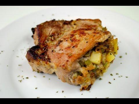 Apple Stuffed Pork Chop Recipe