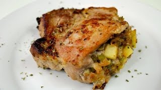Apple Stuffed Pork Chop Recipe