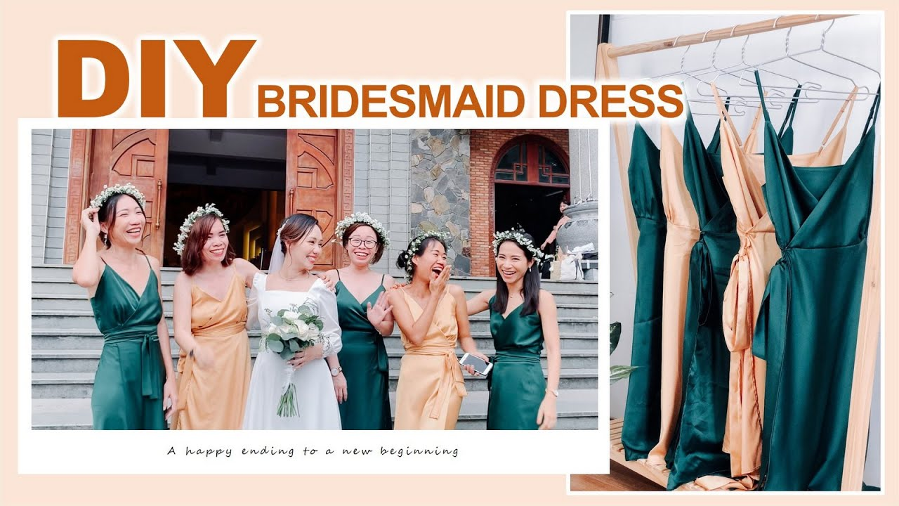DIY WRAP DRESS - Bridesmaid dress from scratch