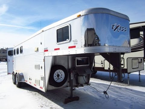 HaylettRV.com - 2007 Exiss Sport Used Three Horse Gooseneck Trailer With Weekender Living Quarters