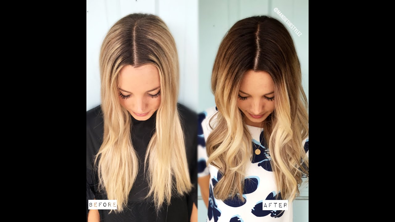 DEMARCATION LINE TO MELTED BLONDE FORMULA INCLUDED