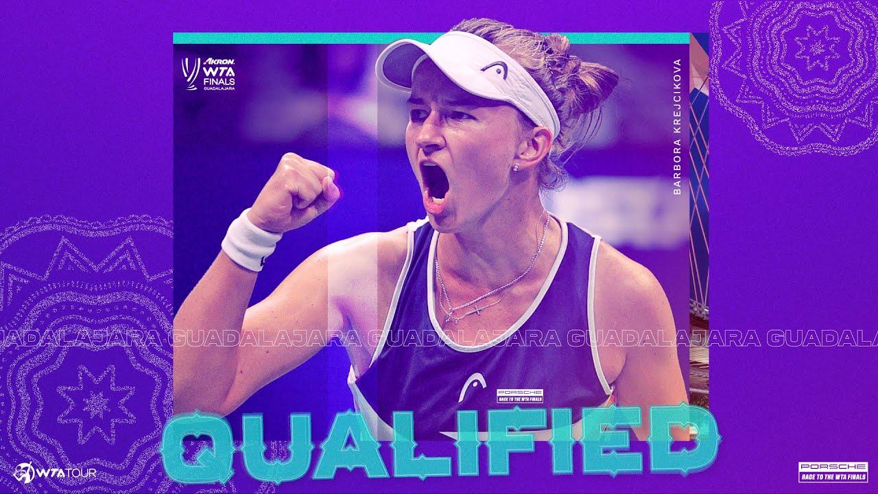 Barbora Krejcikova clinches a spot in the 2021 WTA Finals!