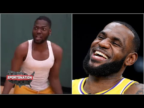 The story behind the LeBron James 'reaction video' to the James Harden trade | SportsNation