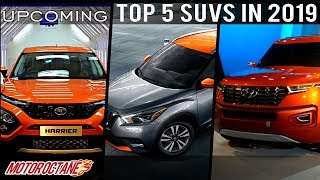 Top 5 Upcoming SUVs in India in 2019 | Hindi | MotorOctane