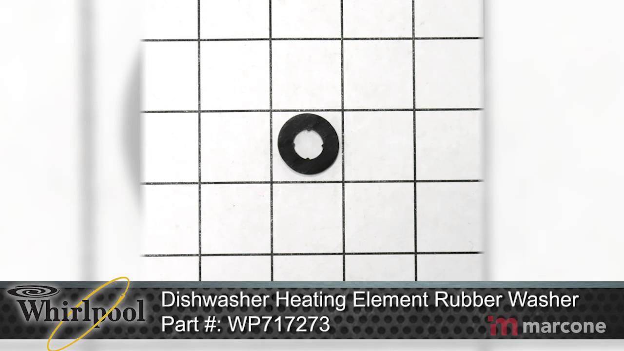 Whirlpool dishwasher heating element rubber washer part - Heating element for whirlpool dishwasher ...