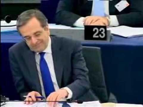 Nigel Farage Lambasts Greece Prime Minister Antonis Samaras and EU Parliament