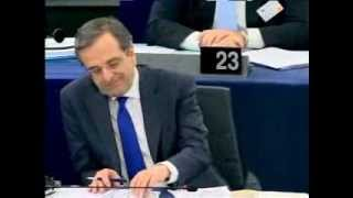 Nigel Farage Lambasts Greece Prime Minister Antonis Samaras and EU Parliament