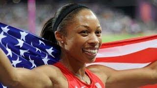 Allyson Felix sweeps 200-meter Gold at 2012 London Olympics!