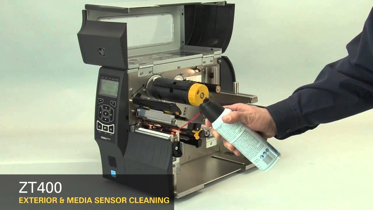 Zebra Zt400 Series How To Clean The Media Sensors