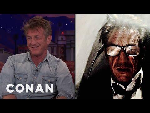 Sean Penn's Author Photo Is A Drunk Airplane Selfie  - CONAN on TBS