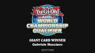 2018 WCQ: European Championship - Giant Card Winner - Gabriele Mocciaro thumbnail