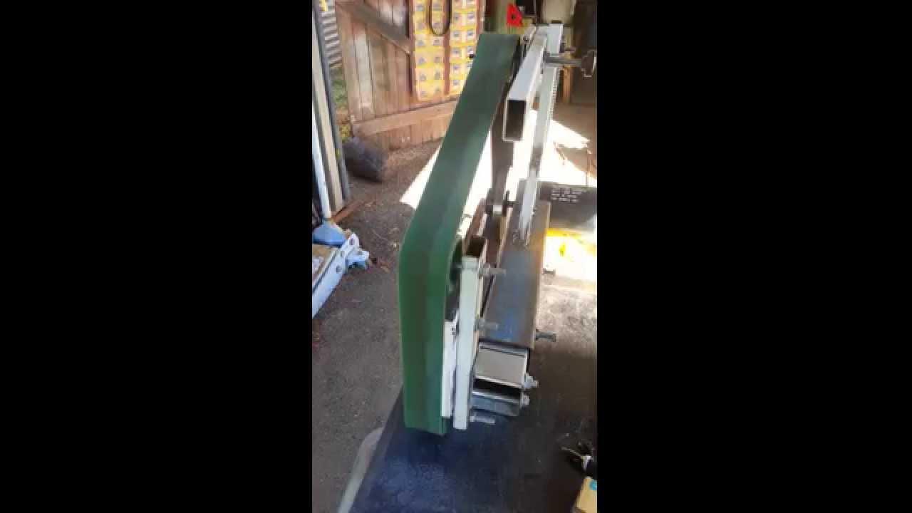 Treadmill motor belt grinder