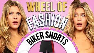 BIKER SHORTS Challenge?! Wheel of Fashion w/ Caci Twins