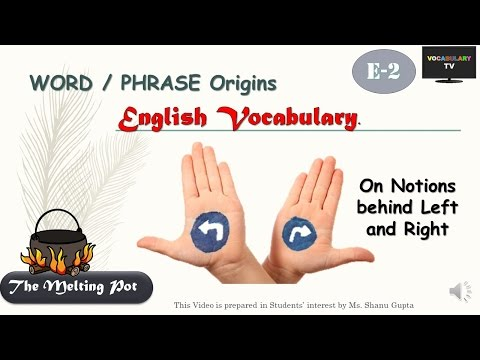 Word Origins: Left versus Right (English Vocabulary, Melting Pot E-2)