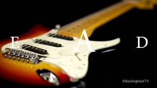 Fast Blues Shuffle in A Guitar Backing Track