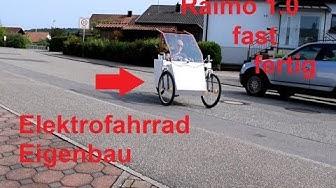Elektrofahrrad Eigenbau Raimo 1.0 fast fertig
