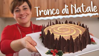 Christmas Yule Log Cake - Easy recipe by Benedetta