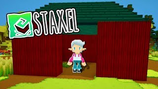 I BUILT A BARN! | Staxel #2