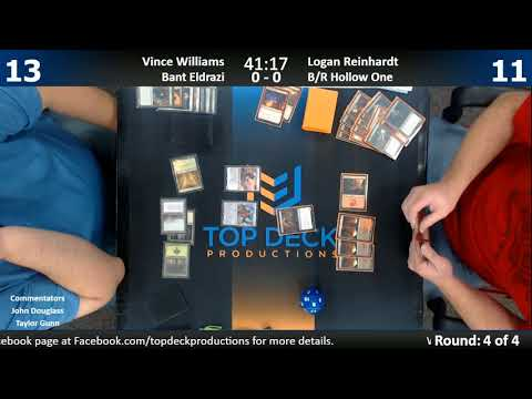 Modern w/ Commentary 11/28/17: Vince Williams (Bant Eldrazi) vs. Logan Reinhardt (B/R Hollow One)