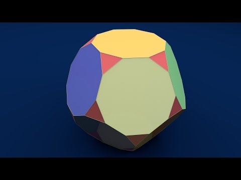 Solid Shapes And Their Nets: Truncated Dodecahedron / Усічений додекаедр / Усеченный додекаэдр