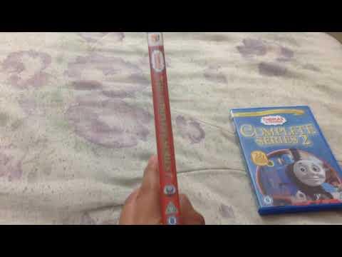 Two UK Thomas DVDs I got for Christmas back in December 2012