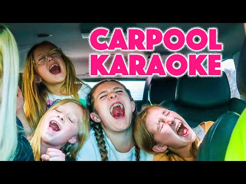 CARPOOL KARAOKE with DADDY and GIRLS singing THE CUTEST SONGS!