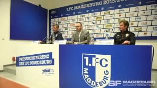 Pressekonferenz - 1. FC Magdeburg gegen VfB Stuttgart II 2:2 (2:0) - www.sportfotos-md.de