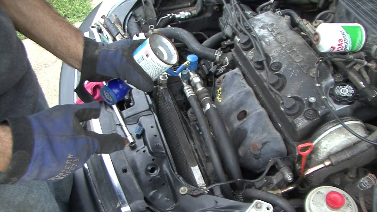 honda how to civic a  c compressor and charging