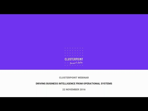 Webinar: Driving business intelligence from operational systems